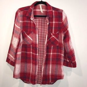 Red flannel shirt. 100% cotton